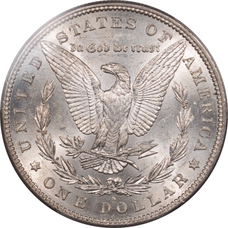 New Certified Coins 1884-S MORGAN DOLLAR – PCGS AU-58, BLAST WHITE WELL STRUCK!