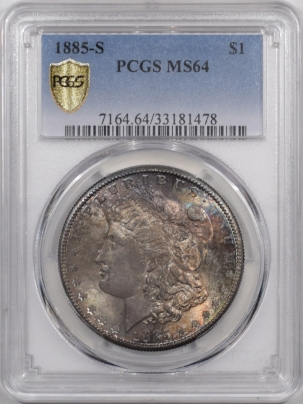 Morgan Dollars 1885-S MORGAN DOLLAR PCGS MS-64