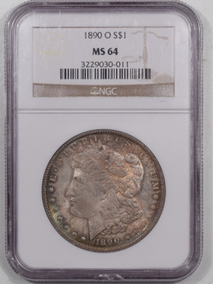 Morgan Dollars 1890-O MORGAN DOLLAR – NGC MS-64