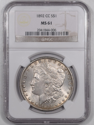 Coin World/Numismatic News Featured Coins 1892-CC MORGAN DOLLAR – NGC MS-61