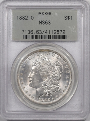 Coin World/Numismatic News Featured Coins 1882-O MORGAN DOLLAR PCGS MS-63 PREMIUM QUALITY! OLD GREEN HOLDER!