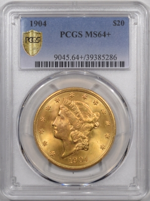 $20 1904 $20 LIBERTY HEAD GOLD DOUBLED EAGLE PCGS MS-64+