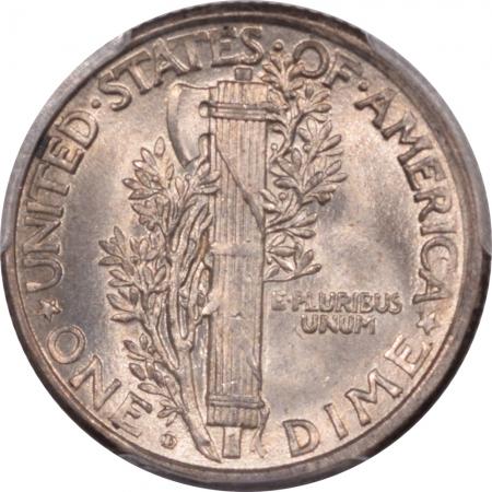 New Certified Coins 1919-D MERCURY DIME PCGS MS-64 PREMIUM QUALITY! LOOKS MS-65!