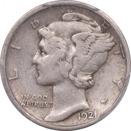 Coin World/Numismatic News Featured Coins 1921-D MERCURY DIME PCGS VF-20