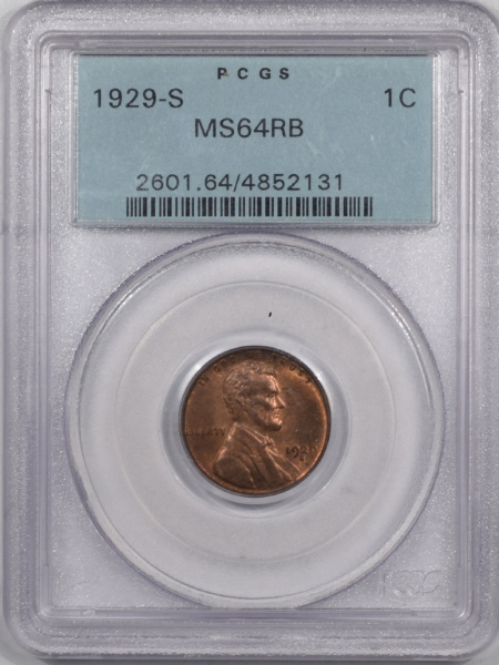 New Certified Coins 1929-S LINCOLN CENT PCGS MS-64 RB