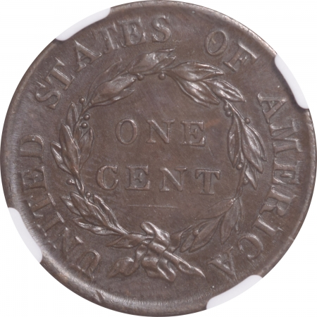 New Certified Coins 1818 CORONET HEAD LARGE CENT NGC AU-58 BN