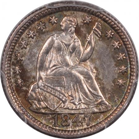 On Sale 1847 SEATED LIBERTY HALF DIME PCGS MS-65+ FRESH & PREMIUM QUALITY!