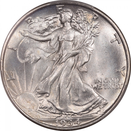 Coin World/Numismatic News Featured Coins 1934 WALKING LIBERTY HALF DOLLAR PCGS MS-67 PREMIUM QUALITY! WHITE!