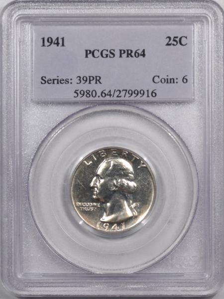 Washington Quarters 1941 PROOF WASHINGTON QUARTER – PCGS PR-64