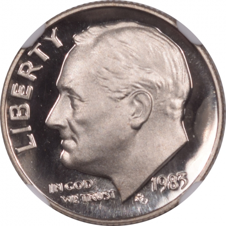 Coin World/Numismatic News Featured Coins 1983 No S PROOF ROOSEVELT DIME – NGC PF-69 ULTRA CAMEO