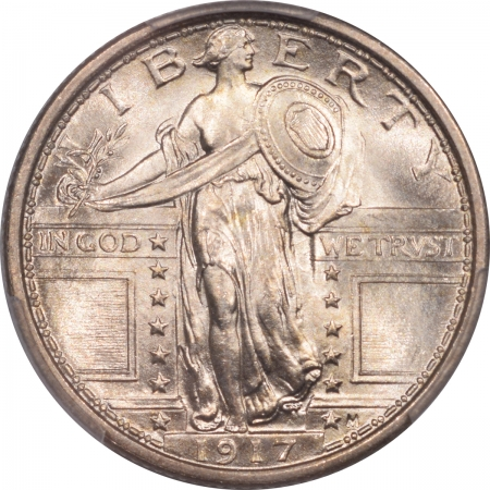 New Certified Coins 1917 STANDING LIBERTY QUARTER – TY I PCGS MS-66 FH BLAZING WHITE!
