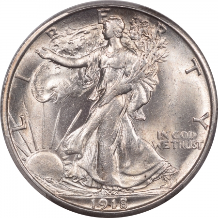 New Certified Coins 1918-S WALKING LIBERTY HALF DOLLAR PCGS MS-64