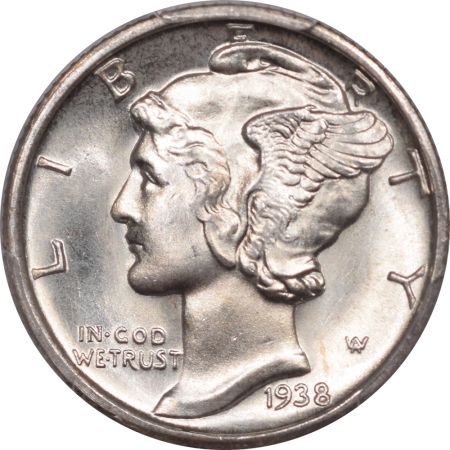 New Certified Coins 1938-D MERCURY DIME – PCGS MS-67 FB FRESH & PREMIUM QUALITY LOOKS 67+ TO US!
