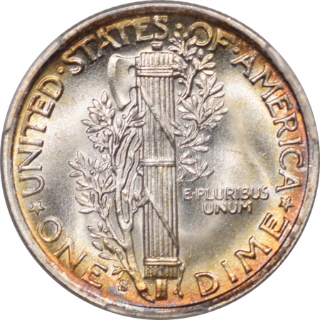 New Certified Coins 1942-S MERCURY DIME – PCGS MS-67+ FB SUPER FLASHY & STUNNING TONING – WOW!