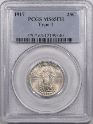 New Certified Coins 1917 STANDING LIBERTY QUARTER – TY I – PCGS MS-65 FH FRESH & PREMIUM QUALITY!