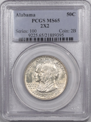 New Certified Coins 1921 ALABAMA 2X2 COMMEMORATIVE HALF DOLLAR – PCGS MS-65 SUPERB EXAMPLE LUSTER!