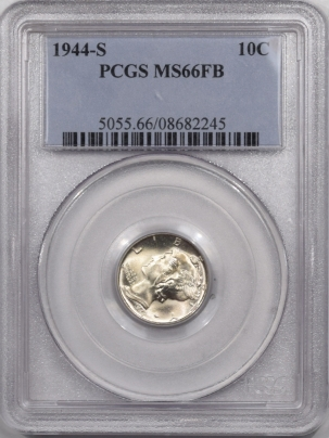 Mercury Dimes 1944-S MERCURY DIME – PCGS MS-66 FB SUPER FLASHY!