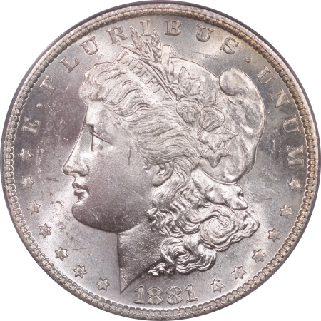 New Certified Coins 1881-S MORGAN DOLLAR – PCGS MS-63 PREMIUM QUALITY! OLD GREEN HOLDER!
