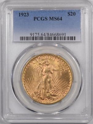 $20 1923 $20 ST GAUDENS GOLD – PCGS MS-64