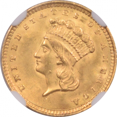 Coin World/Numismatic News Featured Coins 1857 $1 LIBERTY HEAD GOLD – NGC MS-63 PREMIUM QUALITY LOOKS MS-64+ CAC APPROVED!