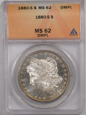 Morgan Dollars 1880-S MORGAN DOLLAR – ANACS MS-62 DMPL