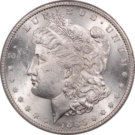 Morgan Dollars 1885-S MORGAN DOLLAR – ANACS MS-63 BLAST WHITE!