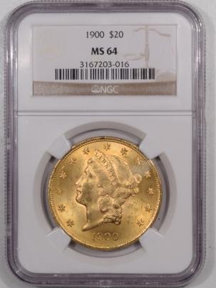 $20 1900 $20 LIBERTY HEAD GOLD – NGC MS-64