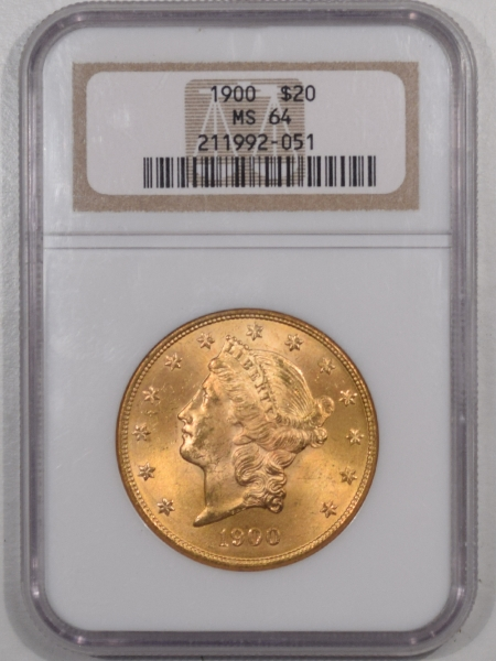 New Certified Coins 1900 $20 LIBERTY HEAD GOLD – NGC MS-64