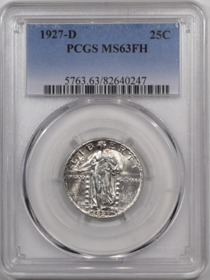 New Certified Coins 1927-D STANDING LIBERTY QUARTER – PCGS MS-63 FH