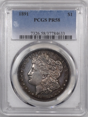 Coin World/Numismatic News Featured Coins 1891 PROOF MORGAN DOLLAR – PCGS PR-58