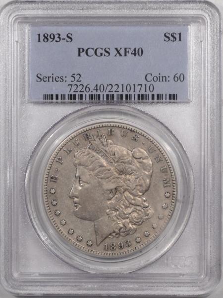 Morgan Dollars 1893-S MORGAN DOLLAR – PCGS XF-40 PLEASING!