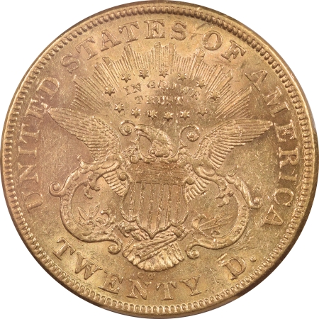 $20 1874-CC $20 LIBERTY HEAD GOLD – PCGS AU-58 FLASHY!