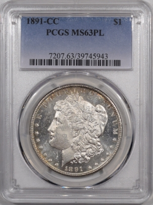 Coin World/Numismatic News Featured Coins 1891-CC MORGAN DOLLAR – PCGS MS-63 PL