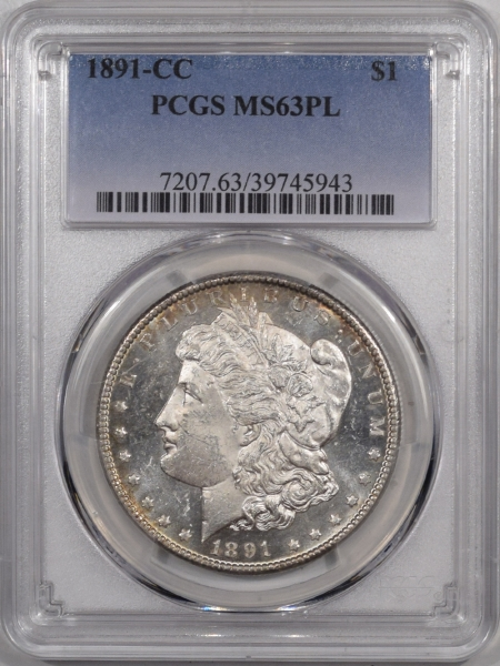 Morgan Dollars 1891-CC MORGAN DOLLAR – PCGS MS-63 PL