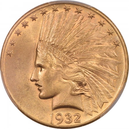 New Certified Coins 1932 $10 INDIAN HEAD GOLD – PCGS MS-64