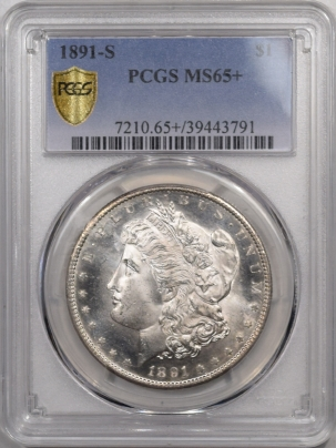 Morgan Dollars 1891-S MORGAN DOLLAR – PCGS MS-65+ PROOFLIKE OBVERSE, PQ+