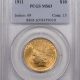 New Certified Coins 1901 $10 LIBERTY HEAD GOLD W/ RARE MIS-LABELED PCGS HOLDER – PCGS MS-64 PQ!