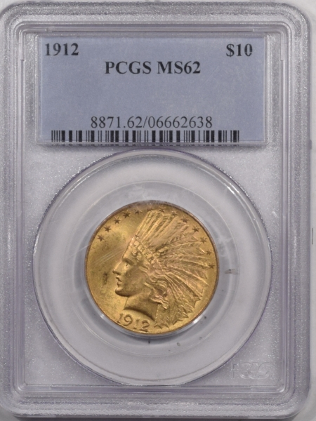 Coin World/Numismatic News Featured Coins 1912 $10 INDIAN HEAD GOLD – PCGS MS-62