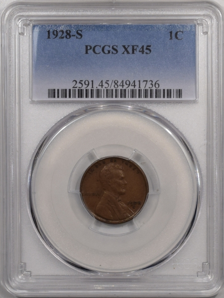 New Certified Coins 1928-S LINCOLN CENT – PCGS XF-45