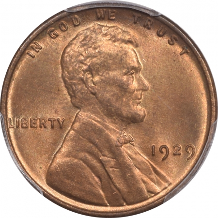 New Certified Coins 1929 LINCOLN CENT – PCGS MS-64 RB