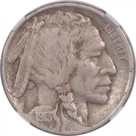Buffalo Nickels 1913-D BUFFALO NICKEL – TY II – NGC VF-25