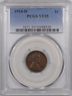 Coin World/Numismatic News Featured Coins 1914-D LINCOLN CENT – PCGS VF-35