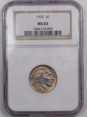 Buffalo Nickels 1920 BUFFALO NICKEL – NGC MS-63