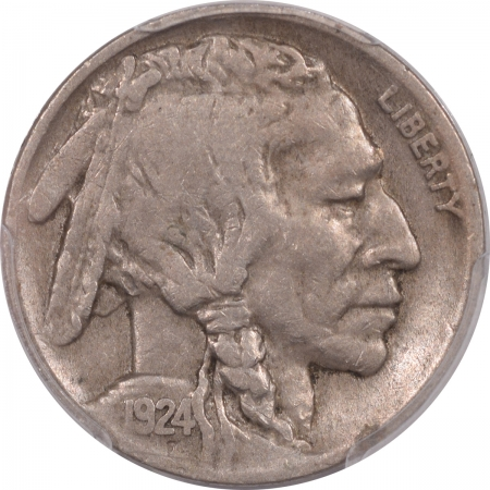 Buffalo Nickels 1924-D BUFFALO NICKEL – PCGS F-12