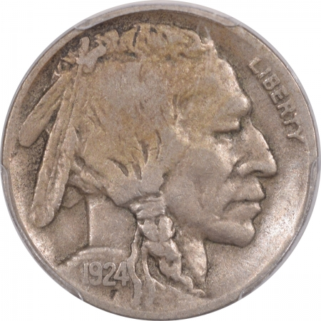 Buffalo Nickels 1924-D BUFFALO NICKEL – PCGS VF-20