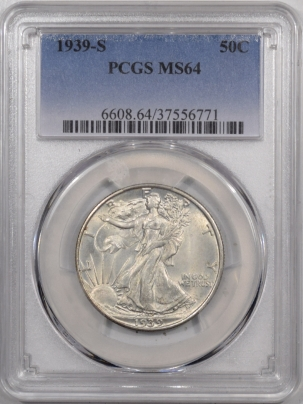 New Certified Coins 1939-S WALKING LIBERTY HALF DOLLAR – PCGS MS-64