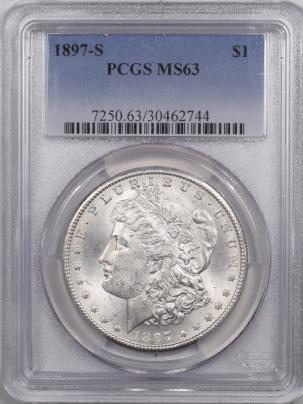 Morgan Dollars 1897-S MORGAN DOLLAR – PCGS MS-63