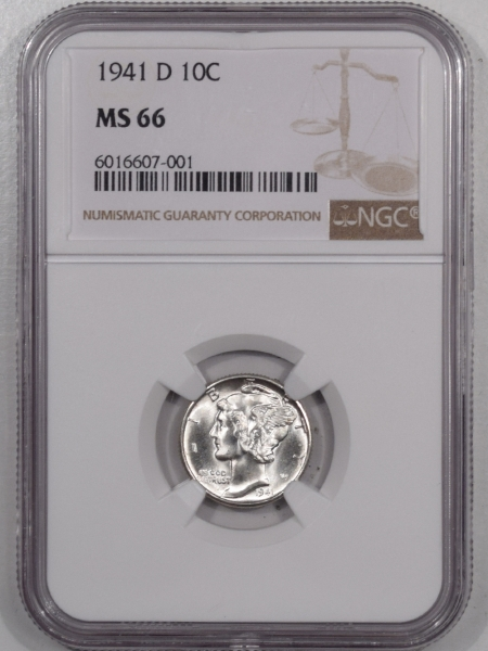 Mercury Dimes 1941-D MERCURY DIME – NGC MS-66