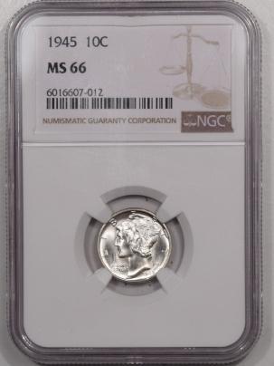 Mercury Dimes 1945 MERCURY DIME – NGC MS-66