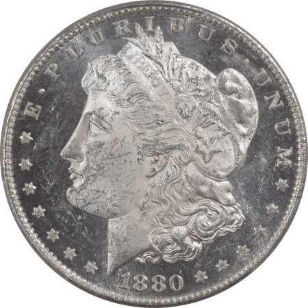 New Certified Coins 1880-O MORGAN DOLLAR – PCGS MS-62 DMPL BLACK & WHITE, PQ++ & CAC APPROVED!